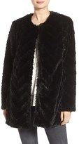 Sam Edelman Women's Tiered Faux Fur Topper