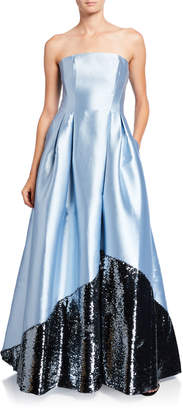 Sachin + Babi Regina Strapless Gown with Sequin Embellished Skirt