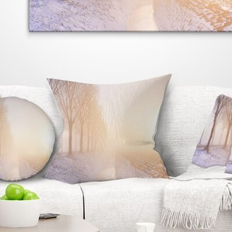 """Polder East Urban Home Landscape Typical Land in the Nether Printed Pillow East Urban Home Size: 16"""" x 16"""", Product Type: Throw Pillow"""