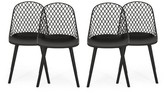 Kenyon Outdoor Patio Dining Chair Wrought Studio Frame Color: Black