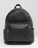 Liquorish Black Textured Backpack