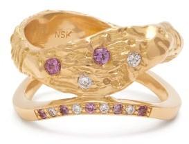 Nadia Shelbaya - 115 Diamond, Sapphire & 18kt Gold Ring - Gold