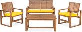 Blaise 4 Piece Outdoor Wood Set, Quick Ship