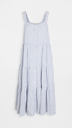 Madewell Button Down Tiered Midi Dress