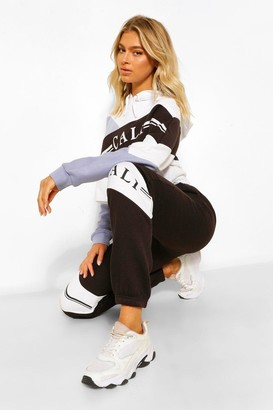 boohoo Tall 'Cali' Colour Block Joggers