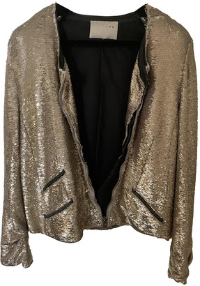 IRO Silver Glitter Leather jackets