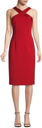 Adrianna Papell Halterneck Beaded Sheath Dress