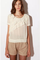 Pins and Needles Asymmetrical Ruffle Blouse