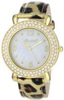 Dakota Bombshell Women's BSS20102G Elegant Goldtone Interchangeable Bezel & Strap Watch Set