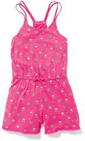 Old Navy Jersey Racerback Romper for Girls