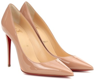 Christian Louboutin Kate 100 patent leather pumps