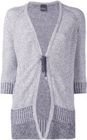 Lorena Antoniazzi tie-fastening cardigan - women - Cotton/Linen/Flax/Nylon/Polyester - 38