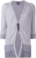 Lorena Antoniazzi tie-fastening cardigan - women - Cotton/Polyester/Linen/Flax/Nylon - 38