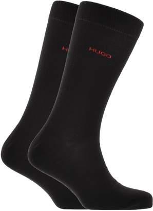 HUGO Logo Socks Double Pack Black