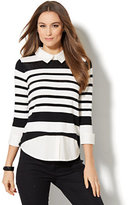 New York & Co. Twofer Sweater - Sequin Stripe