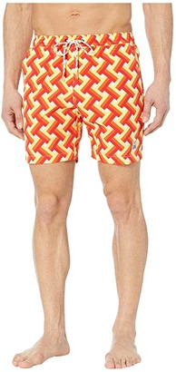 Psycho Bunny Portsmouth Swim Trunks (Lemoncello) Men's Swimwear