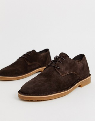 Office Inferno desert shoes in brown suede