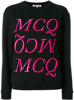 McQ by Alexander McQueen Felpa logo jumper - women - Cotton - XS