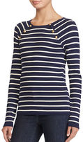 Lauren Ralph Lauren Striped Crew Neck Sweater
