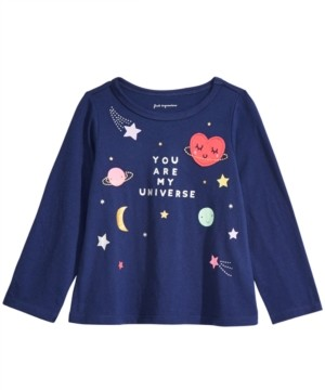 First Impressions First Impression Baby Girls Cotton Long-Sleeve Universe T-Shirt, Created for Macy's