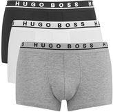 HUGO BOSS Men's Three Pack Boxers Black/White/Grey
