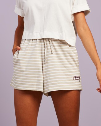 Stussy Women's Neutrals High-Waisted - Linley High-Waisted Shorts - Size 6 at The Iconic