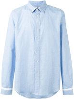 Paul Smith cuffs detail shirt - men - Cotton/Linen/Flax - S