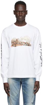 Palm Angels White Desert Skull Long Sleeve T-Shirt