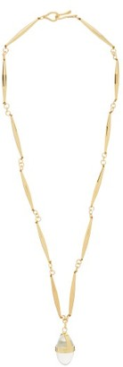 Tohum Lumia Surya Crystal-drop 24-gold Plated Necklace - Gold