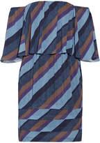 Vix Ivy Off-the-shoulder Striped Voile Mini Dress