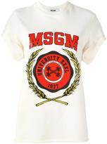 MSGM logo print shortsleeved sweatshirt - women - Cotton - XS