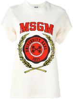 MSGM logo print shortsleeved sweatshirt