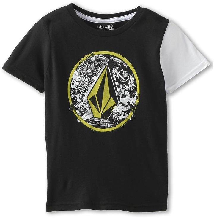 Volcom Punk Circle S/S Tee (Toddler/Little Kids) (Black) - Apparel