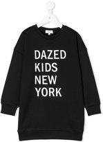 DKNY logo print sweatshirt dress