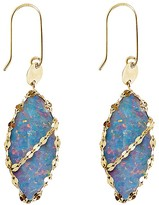 Lana 14K Yellow Gold Frosted Marquis Opal Drop Earrings