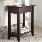 Andover Mills Haines Tray Top End Table with Storage Table Top Color: Espresso, Table Base Color: Espresso