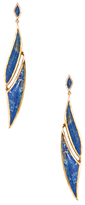 Maiyet 18K Yellow Gold, Lapis & 0.33 Total Ct. Diamond Amazon Journey Earrings