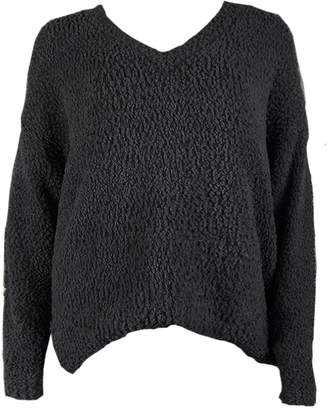 Goodnight Macaroon 'Kristy' V-neck Soft Long Back Sweater (6 Colors)