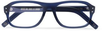 Kingsman + Cutler And Gross Eggsy's Square-Frame Acetate Optical Glasses