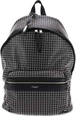 Saint Laurent all-over-studs backpack