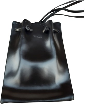 Furla Black Leather Backpacks