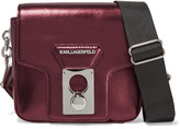 Karl Lagerfeld Metallic leather shoulder bag