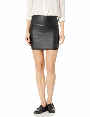 Kenneth Cole Women's Leather Seamed Mini-Skirt