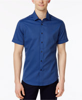 Vince Camuto Men's Fold-Up Pin-Dot Shirt