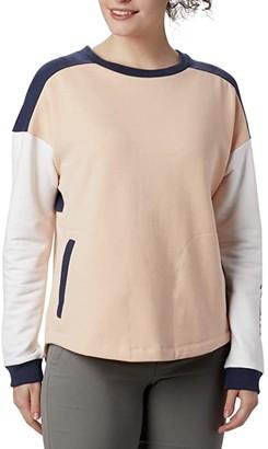 Columbia Lodgetm II Crew (Peach Cloud/Nocturnal) Women's Sweatshirt