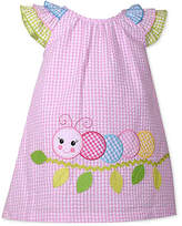 Bonnie Baby Ruffle-Sleeve Check-Print Dress, Baby Girls