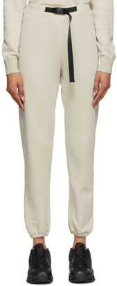 John Elliott Beige Vintage Fleece Belted Lounge Pants