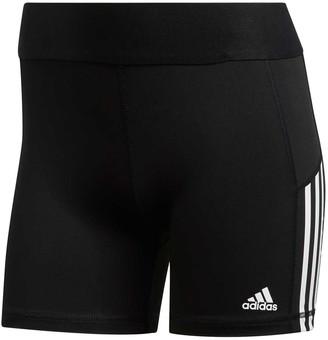 adidas Womens Alphaskin 3 Stripes Short Tights