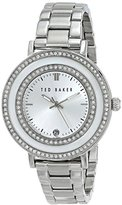 "Ted Baker Women's TE4106 ""Vintage Glam"" Stainless Steel Rhinestone-Accented Watch"