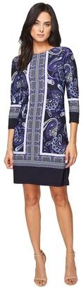 Donna Morgan Women's 3/4 Sleeve Shift Dress